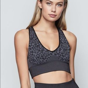 Good American Painted Cheetah Strappy Sports Bra